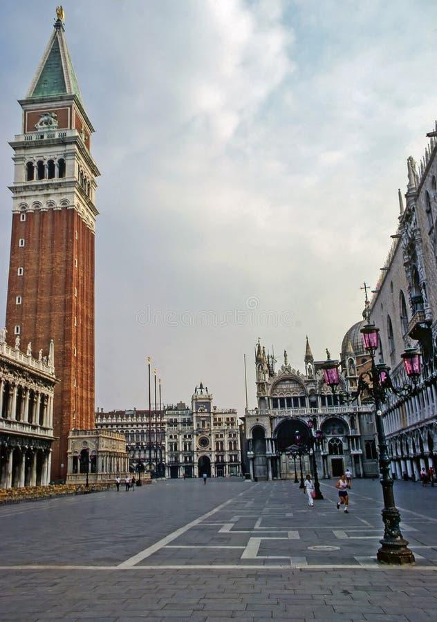 Piazza del Campanile a Venezia, Italia immagine stock libera da diritti