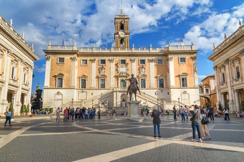 Piazza del Campidoglio in Capitoline Hill in Rome. Italy royalty free stock photo