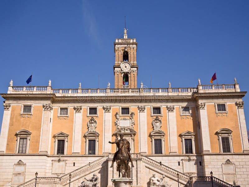 Piazza del Campidoglio Roma Italia fotografia stock