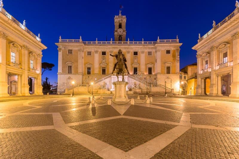 Piazza del Campidoglio, Rome Italien arkivfoto