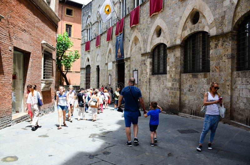 Piazza del Campo de Siena, Toscana, Italia imagen de archivo