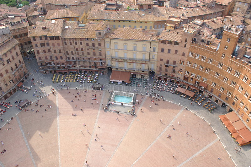 Piazza Del Campo, Siena stockfotos