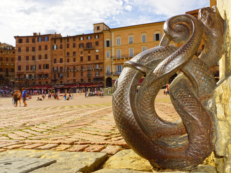 Piazza del campo, Siena, Toscana, Italia fotografia stock