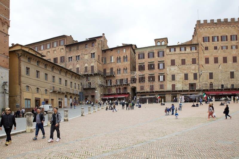 Piazza del campo, Siena, Toscanië, Italië royalty-vrije stock foto