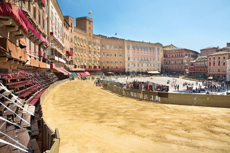 Piazza Del Campo Siena, Toskana, Italien lizenzfreie stockfotos