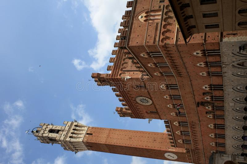 Piazza del Campo in Siena, Tuscany royalty free stock photos