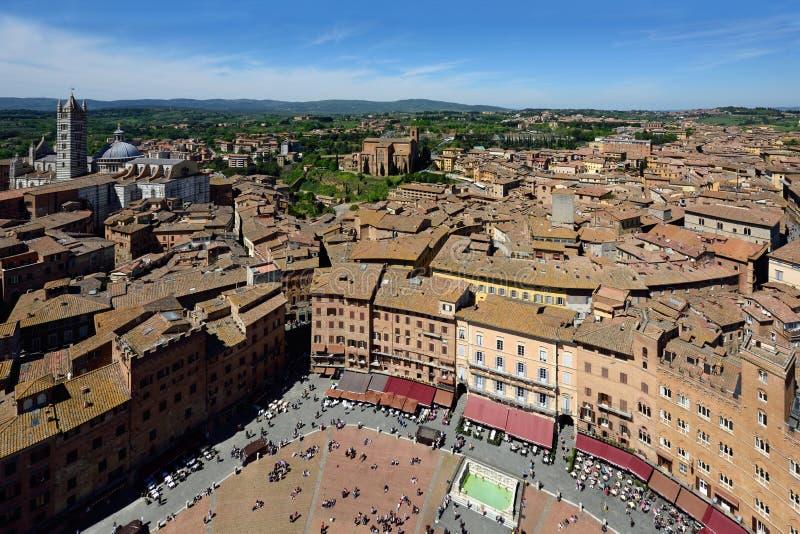 Piazza del Campo, Siena, Tuscany, Italy royalty free stock photos