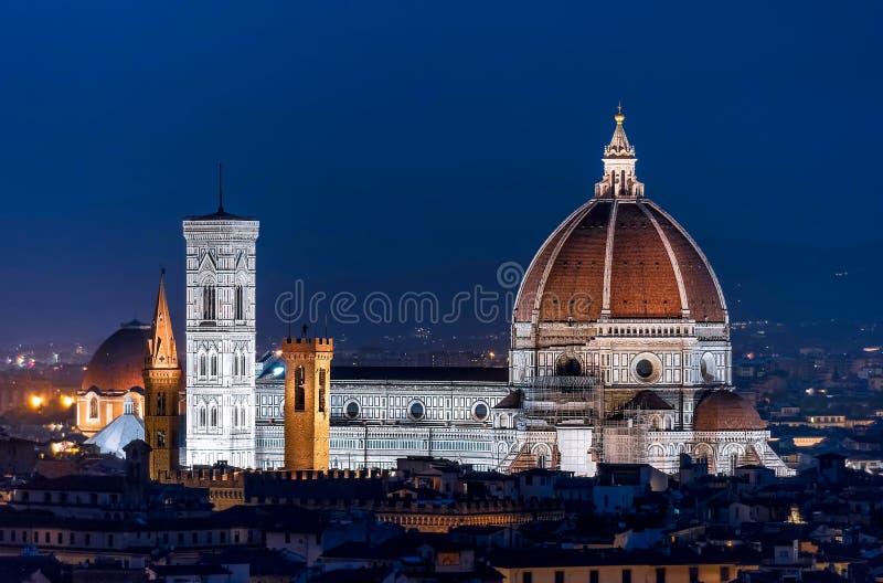 Piazza del Duomo在夜之前 免版税库存照片