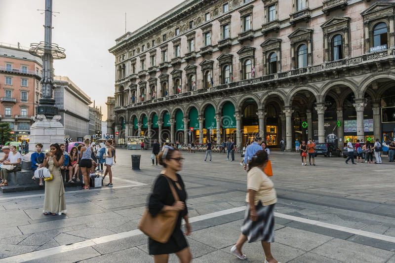 Piazza del Duomo , Central Square in Milano royalty free stock images