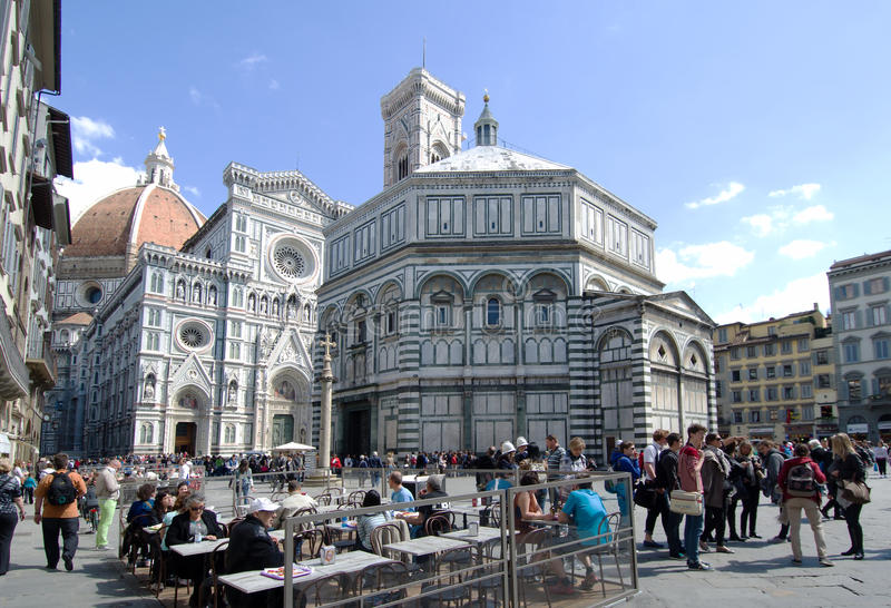 Piazza Del Duomo Florence Italy Editorial Stock Image