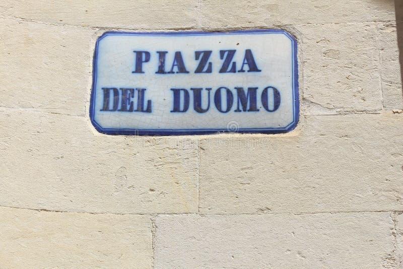 Piazza Del Duomo, Lecce στοκ εικόνα με δικαίωμα ελεύθερης χρήσης