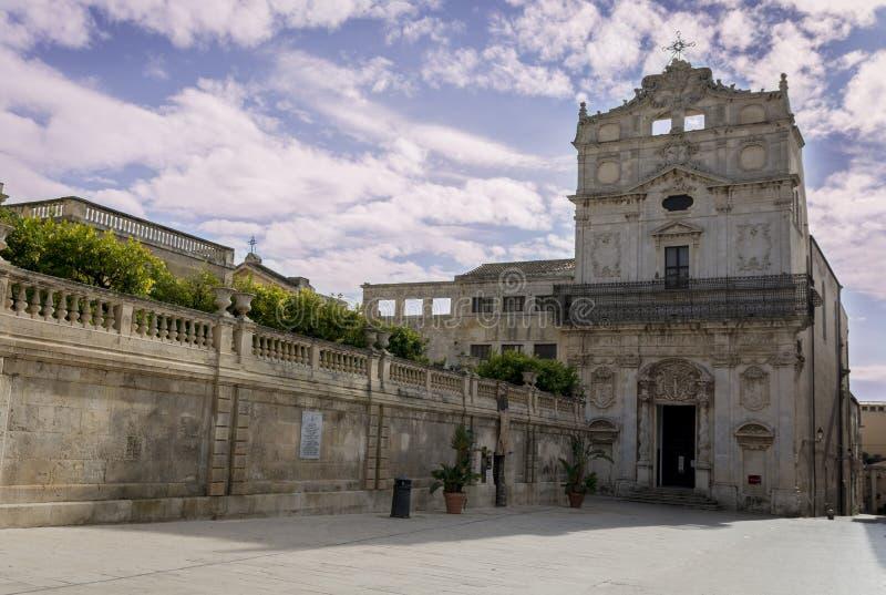 Piazza del Duomo Ortigia photo libre de droits