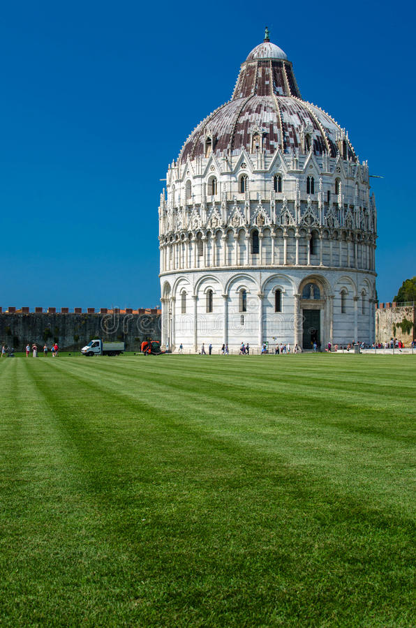 Piazza del Duomo, Pisa. The Piazza dei Miracoli formally known as Piazza del Duomo located in Pisa, Tuscany, Italy, recognized as an important center of European royalty free stock photo