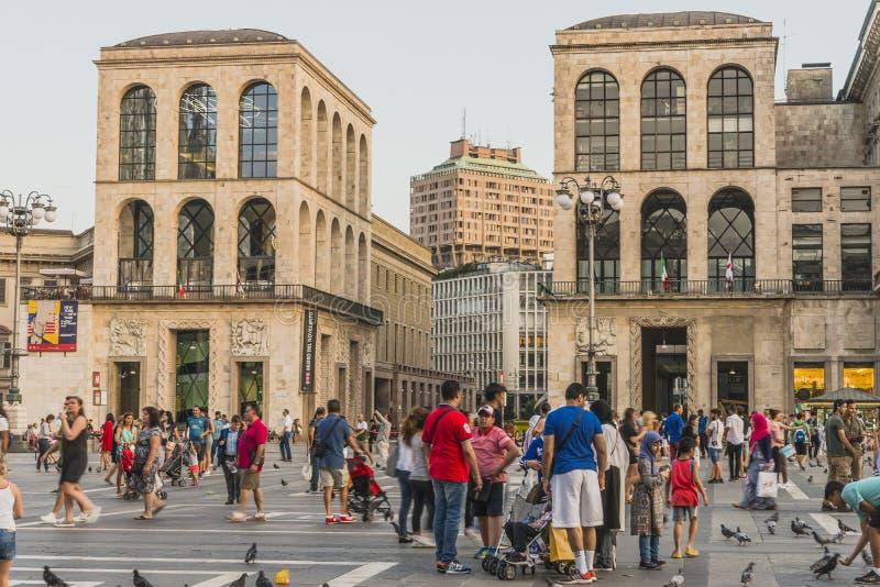 Piazza del Duomo , Central Square in Milano stock photos
