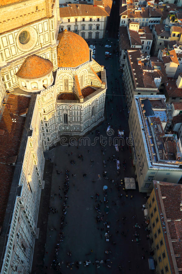 Piazza del Duomo at sunset stock photo