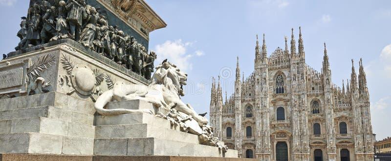 Piazza del Duomo van Milaan, Italië royalty-vrije stock afbeeldingen