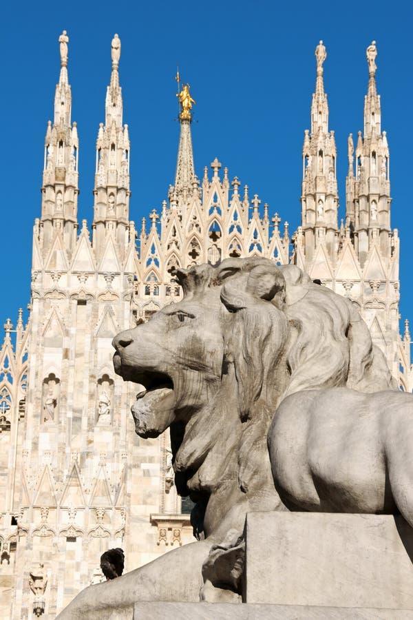 Piazza Del Duomo w Mediolan, Włochy zdjęcie stock