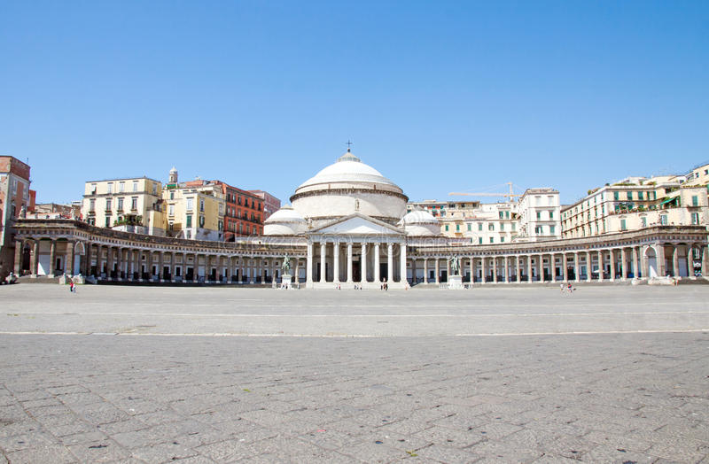 Piazza del Plebiscito, Νάπολη, Ιταλία στοκ εικόνα
