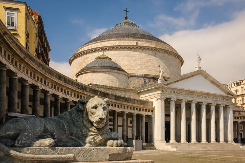 Piazza del Plebiscito. Naples. Italy royalty free stock images