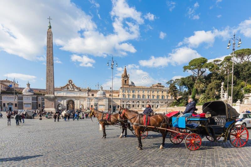 Piazza del Popolo à Rome, Italie photos stock