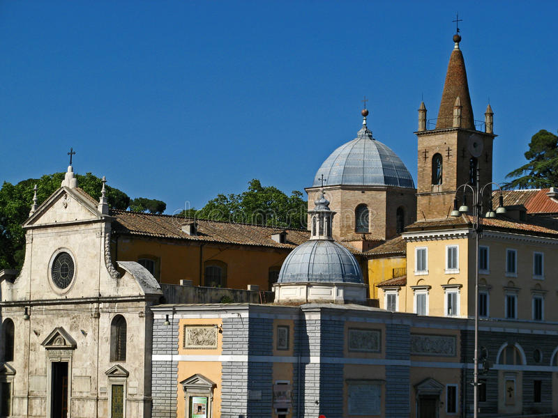 Download Piazza del Popolo 12 stock image. Image of chiesa, holiday - 22596977