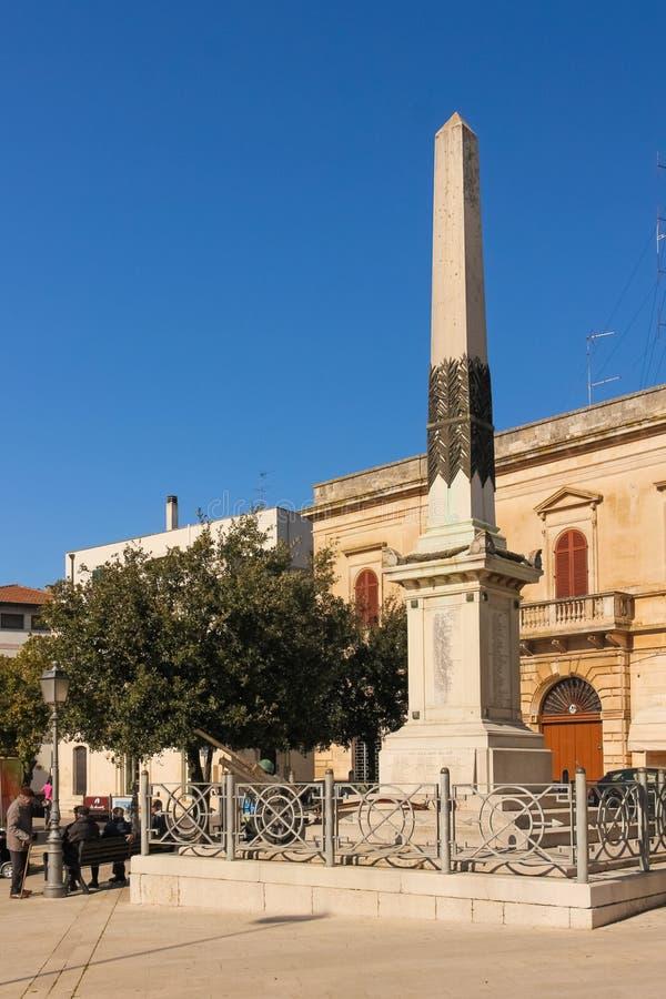 Piazza del Popolo, Alberobello Apulia Ιταλία στοκ εικόνες με δικαίωμα ελεύθερης χρήσης