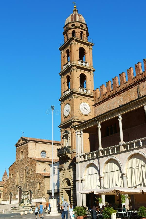 Piazza Del Popolo in Faenza, Italien stockfotografie