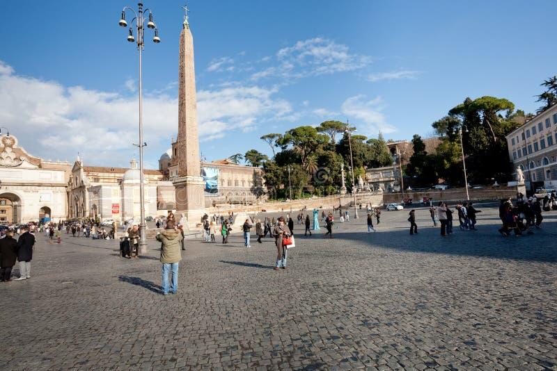 Piazza del Popolo is a large urban square in Rome