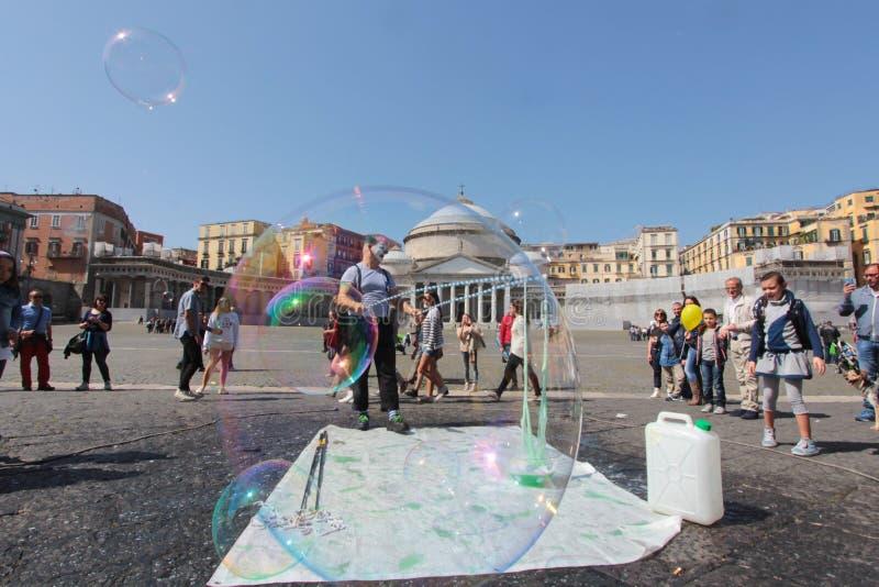 Piazza del Popolo in Napels royalty-vrije stock fotografie