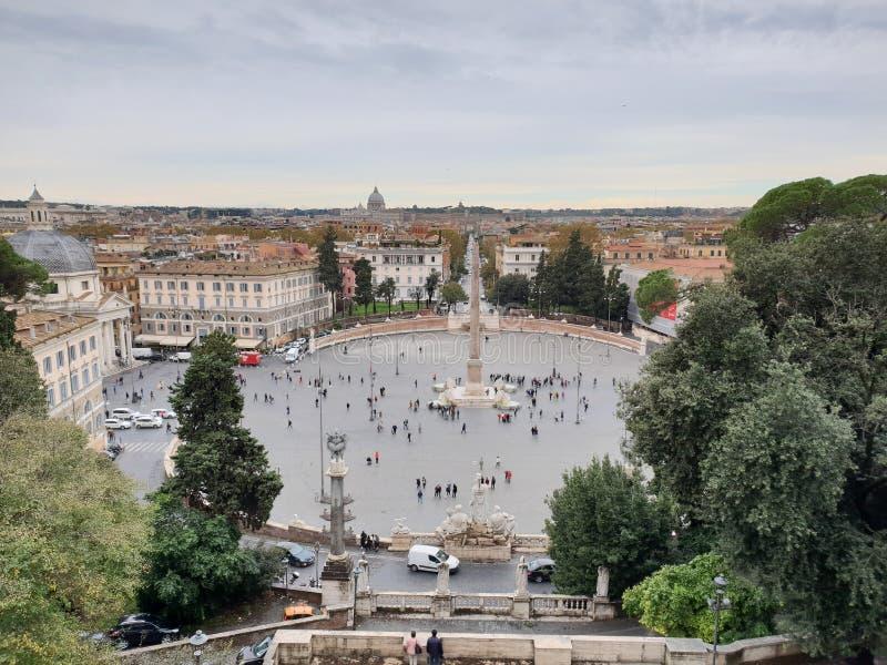Piazza del Popolo. Popolo square in Roma royalty free stock photo