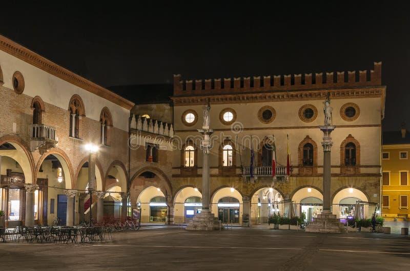 Piazza del Popolo, Ravenna, Italien arkivbild
