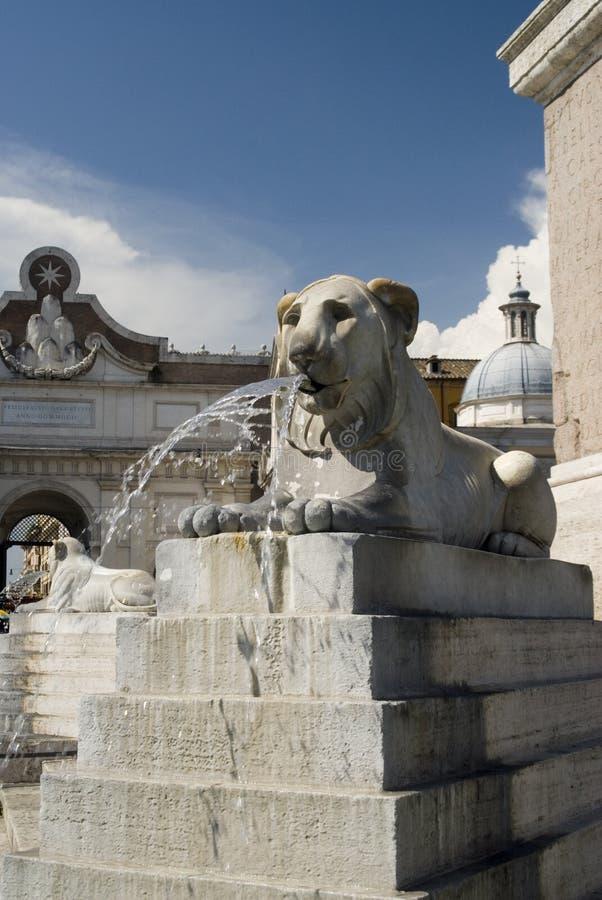 Piazza del popolo Roma immagine stock libera da diritti