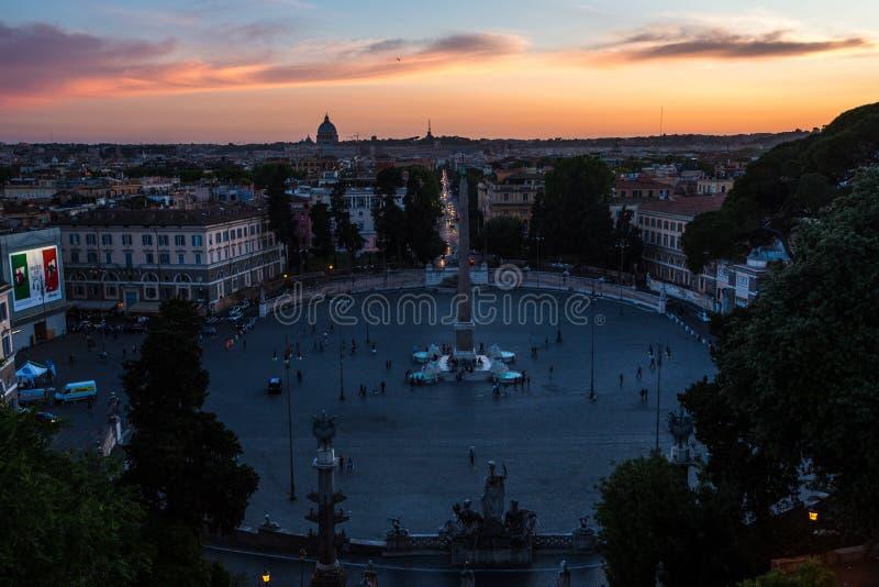 Piazza del Popolo Roma fotos de archivo libres de regalías