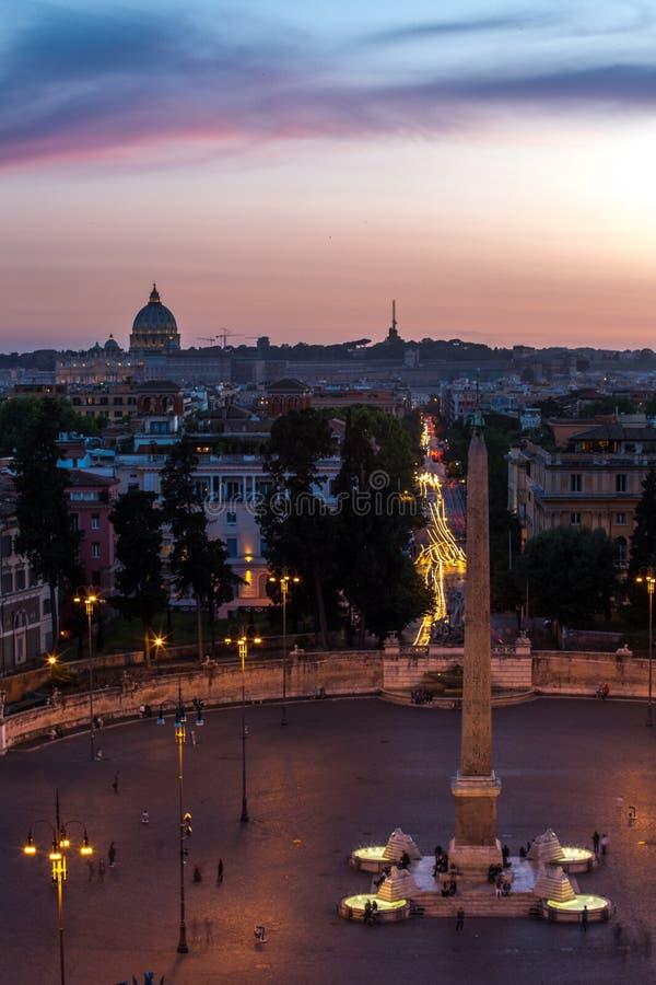 Piazza del Popolo Roma imagen de archivo