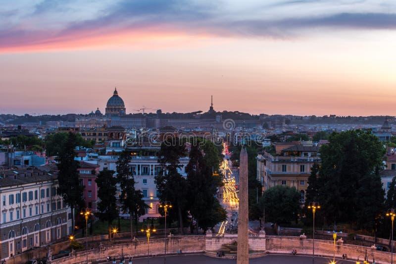 Piazza del Popolo Roma fotografía de archivo