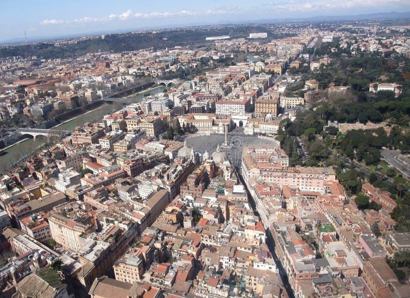 Piazza del Popolo, Rome. Piazza del Popolo, aerial of Rome Italy stock image