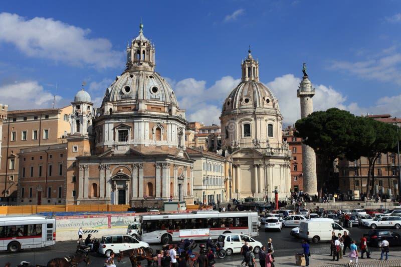 Piazza del Popolo.Rome. Building of the Piazza del Popolo.Rome.Italy stock image