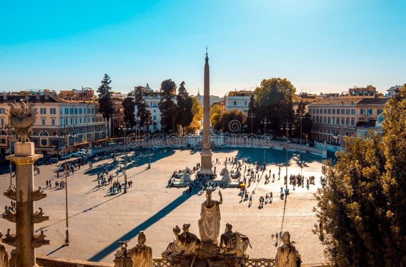Piazza del Popolo, Rome, Italië stock foto