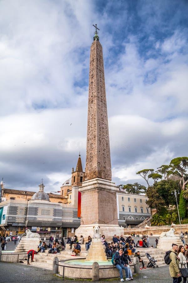 Piazza del Popolo ? Rome, Italie photographie stock libre de droits