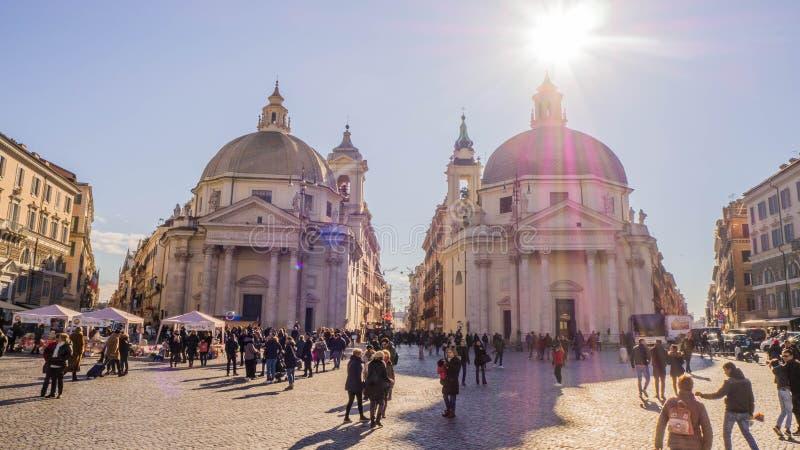 Piazza del Popolo, Rome Italie photos libres de droits