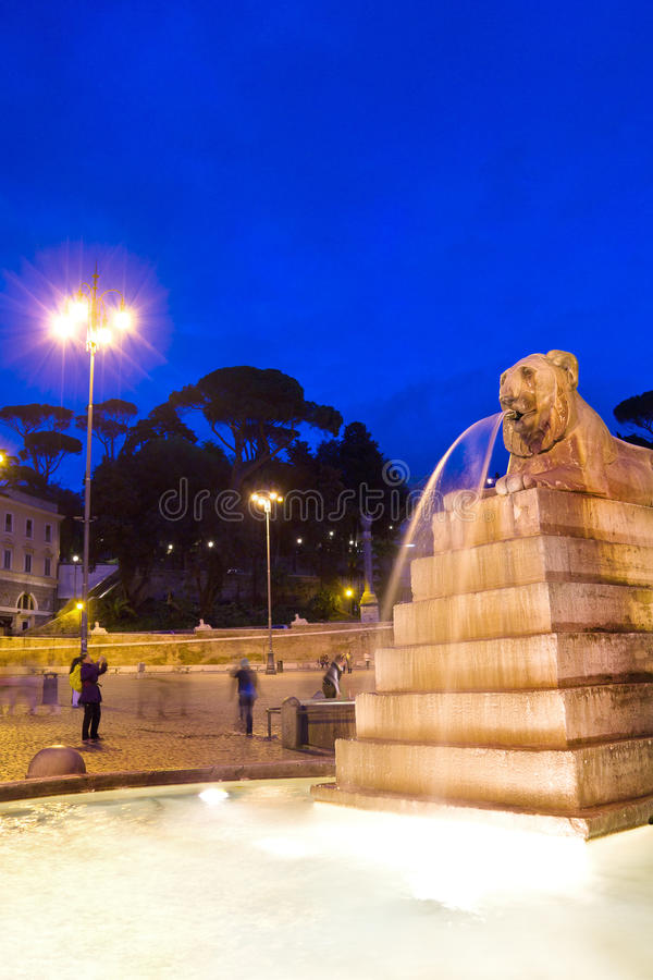 Piazza del Popolo in Rome Italy stock photo