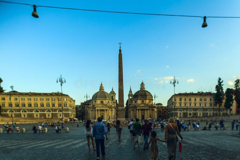 Download Piazza Del Popolo, Santa Maria In Rome Editorial Stock Image - Image: 37686144