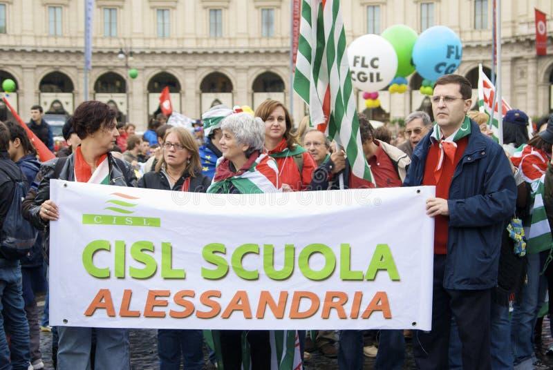Piazza del Popolo tijdens de staking stock foto