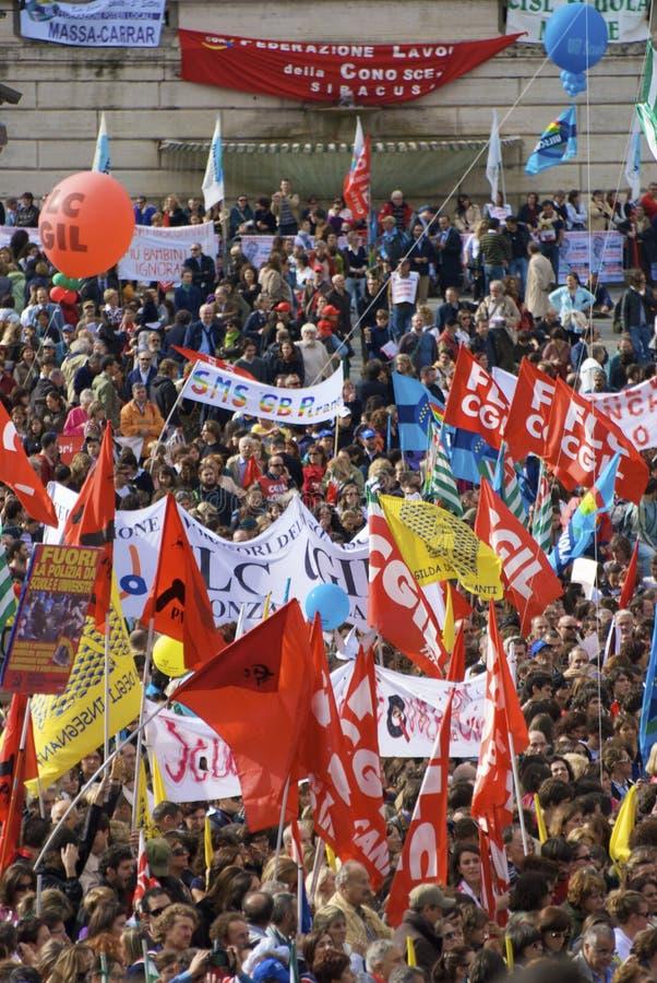 Piazza del popolo tijdens de staking stock afbeelding