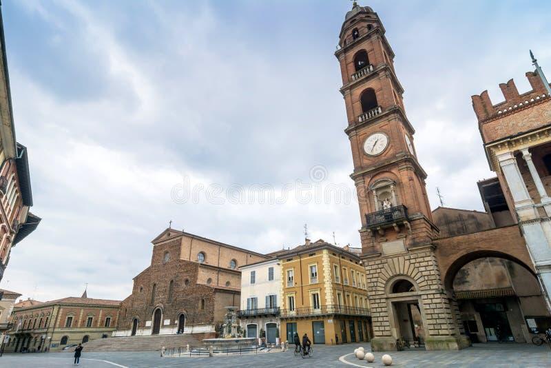 Piazza Del Popolo w Faenza, Włochy zdjęcia royalty free