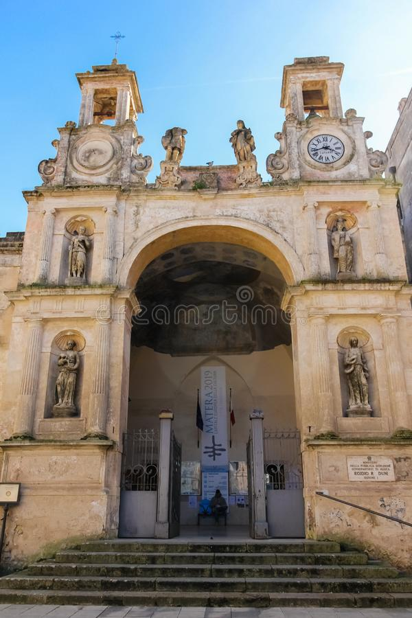 Piazza del Sedile. Matera. Basilicata. Apulia or Puglia. Italy stock image