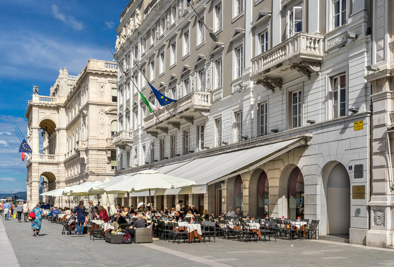 The Piazza Dell Unita D Italia in Trieste royalty free stock photography