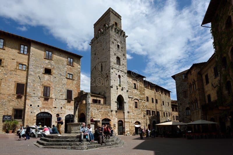 San Gimignano, UNESCO, Tuscany, Italia stock images