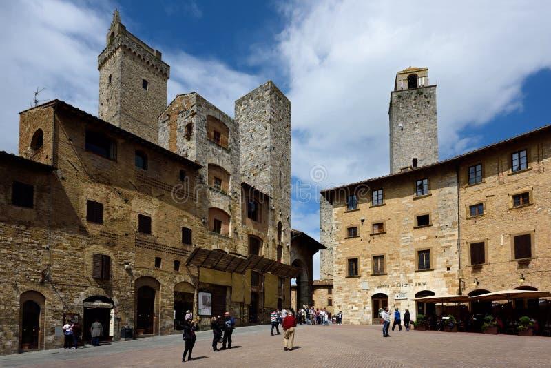 San Gimignano, UNESCO, Tuscany, Italia stock photo