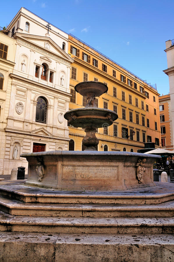 Piazza della Madonna dei Monte, Rome. Piazza della Madonna dei Monte in Rome, Italy. The church is called the Santa Maria dei Monte, while the fountain is called stock photography